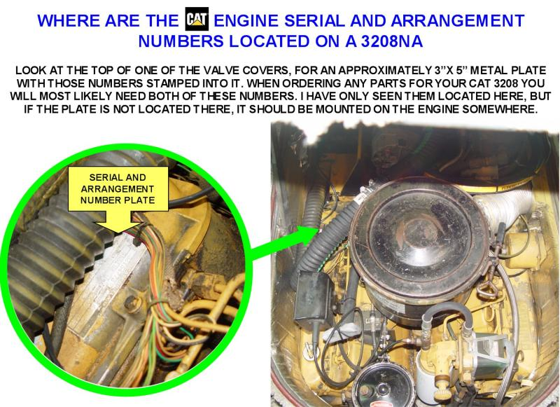 CAT 3208 Engine Serial And Arrangement Numbers How To Find