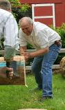 Mark Kriss and Ron Downing in the Crosscut saw competition