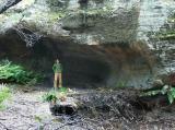 Cate in a cave