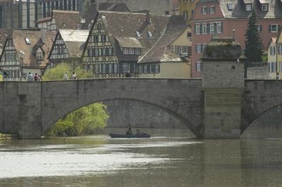 Henkersbrücke über den Fluß Kocher