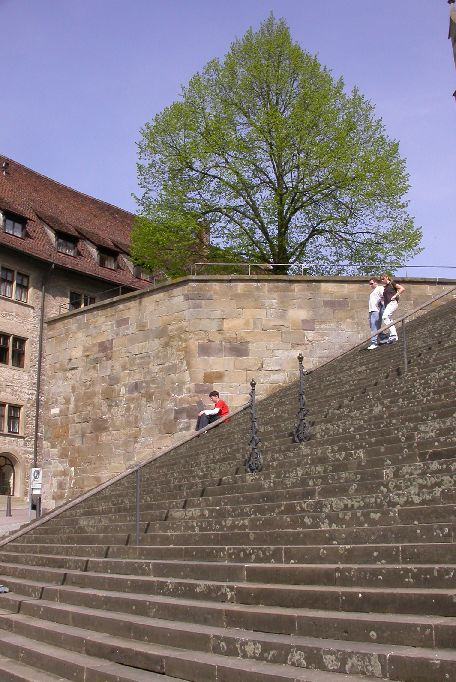 Freitreppe vor St. Michael