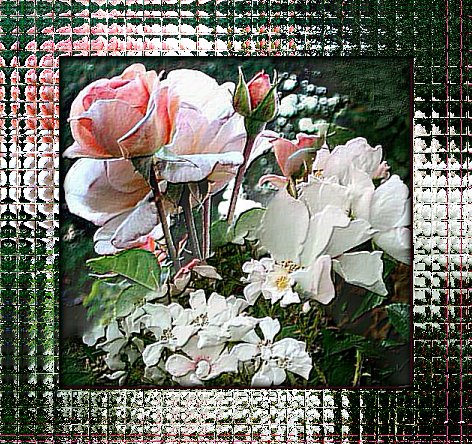 Rose glass frame -tutorial
