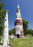 Worlds Tallest Totem Pole and Mike
