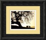 sunset grazing-framed