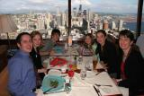 space-needle dinner: downtown view