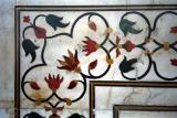 translucent marble inlay detail