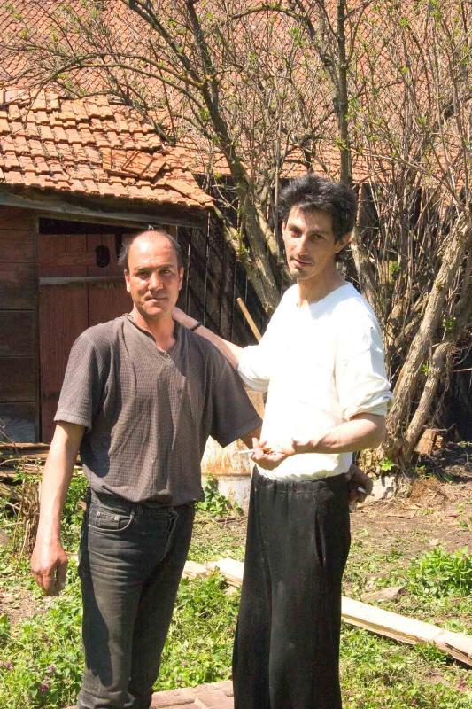 Men working in garden