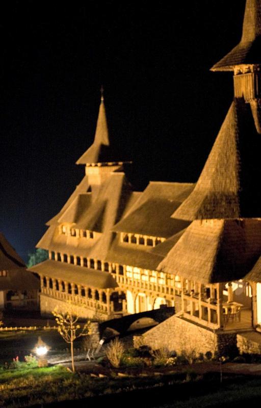 Romanian Monastery at midnight