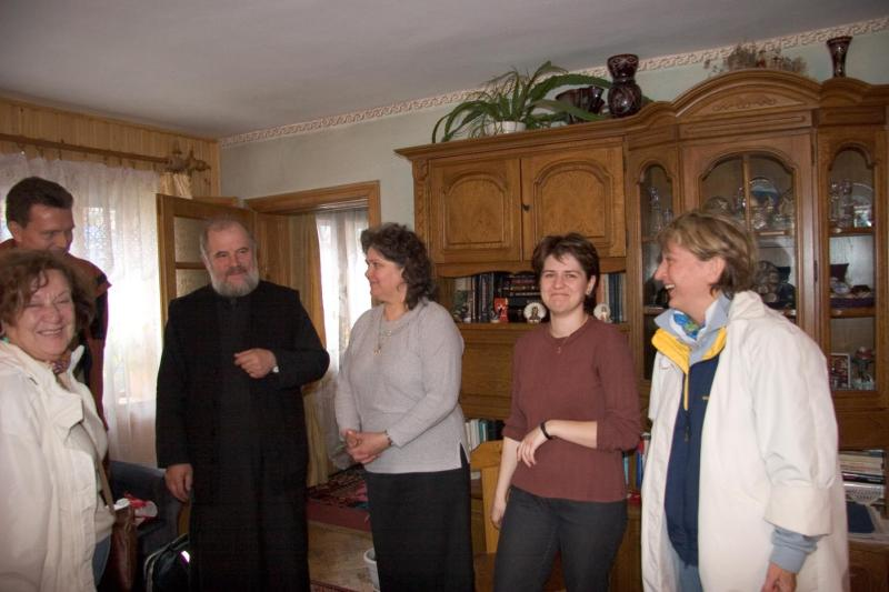 Visiting with Orthodox Priest and Family