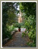 Pathway through the garden to chapel