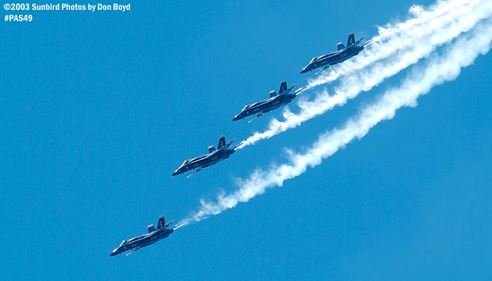 USN Blue Angels F/A-18 Hornets military aviation air show stock photo #4157