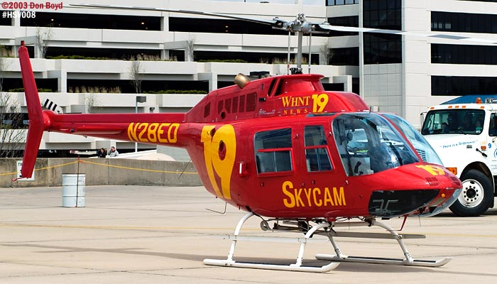 WHNT Channel 19 Bell 206B N28ED helicopter air show stock