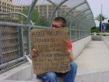 homeless at I17 & Dunlap freeway offramp in Phx, AZ