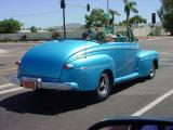 nice car blue convertible