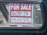 curtis Datsun green truck sold