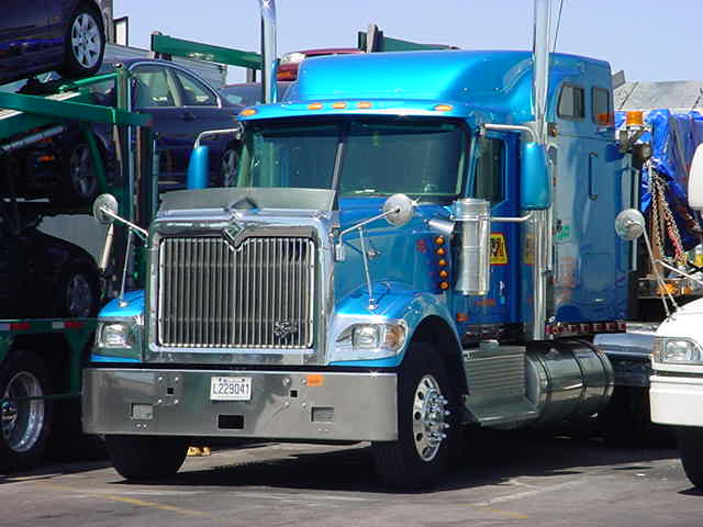 beautiful blue truck
