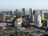 Tampa Skyline From a Helicopter
