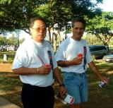 HNLAQ's CSA Cashiers: Mori & Les at the half w @ Kapiolani Parkay point