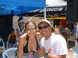 LeeAnn from 54321 & William @ the Town & Country Keiki-Grom Surf Meet in Waikiki (in your dreamz!) : )