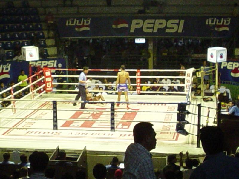 Muay Thai at Ratchadamnoen Stadium in Bkok
