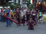 street performers near Tha Pae Gate, Chiang Mai