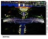 View from top of Merlion @ Musical Fountain