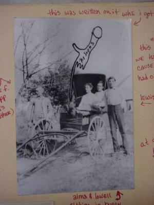 family photograph in the buggy first part of 1900s