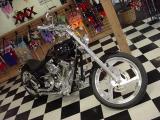 beautiful custom black motorcycle