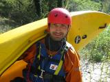 Luca Barbetta del Gruppo Canoe Roma