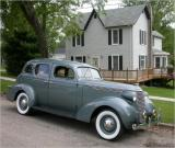 In front of car's home from 1937-1971 (garage no longer there)