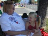 Grandma & Kaelyn at the parade