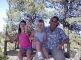 Taya, Kaelyn & Grandmaon the swing