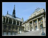 La Sainte- Chapelle,  viewed from Bd du Palais
