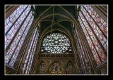Rose window, telling the story of the Apocalypse