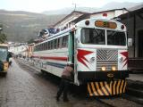 Our train from Alausi to Sibambe