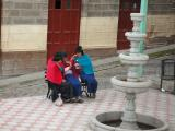 Locals chatting