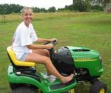 My New John Deere Lawn Mower for My Birthday  June 2003