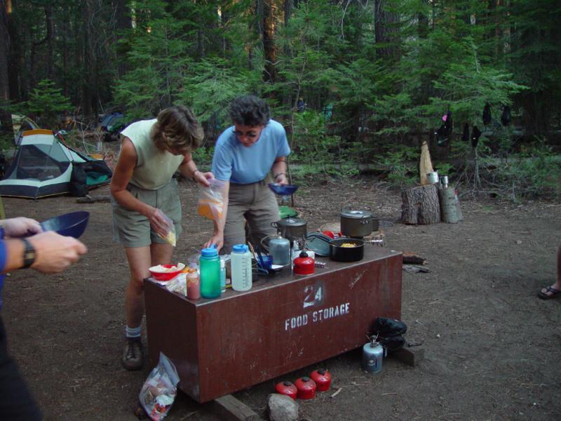 Little Yosemite Valley camp site