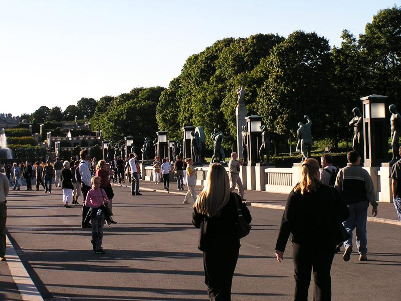 Main walkway at Frogner Park