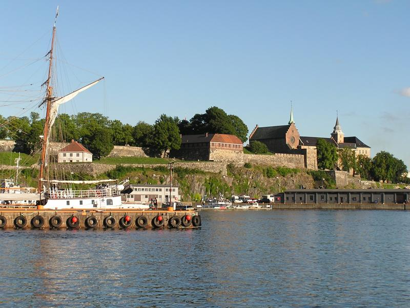 Akershus Castle from the harbor