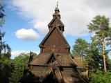 Stave Church from 1100's rebuilt at the Norwegian Heritage Museum