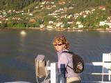 Another windy ferry ride with fall temperatures