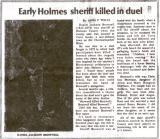 Sheriff Daniel Jackson Brownell - Holmes Co FL - Killed November 26, 1872