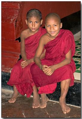 The Monksters - Novice monks, Bagan