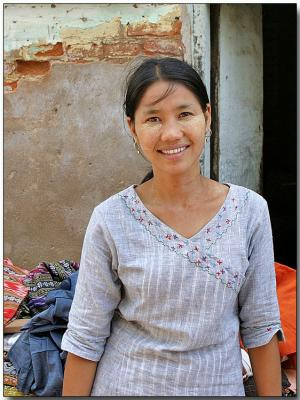 Nyaungoo village market - Bagan