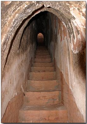 Climbing the temple - Bagan