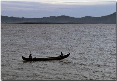 River fishing - Ayeyarwady River, Bagan