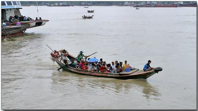 River transport - Ayeyarwady River, Yangon