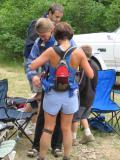 Stacey Bunton crewing Ronda Sundermeier