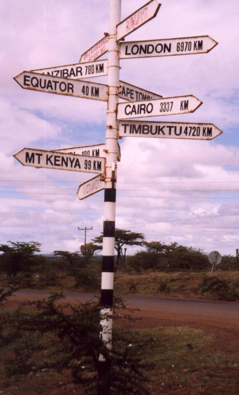 Mad signpost near Rumuruti